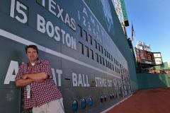 ESPN's Jim Caple at the Green Monster