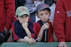 Young Boston Red Sox Fans Opening Day