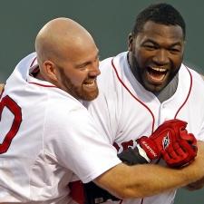 Boston Red Sox David Ortiz & Kevin Youkilis Celebrate