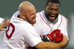 Boston Red Sox David Ortiz & Kevin Youkilis Celebrate